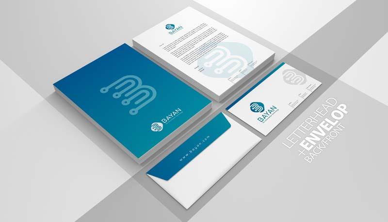 تصميم ورق رسمي شركة بيان تصاميم لوحات جدة
