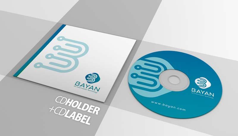 تصاميم هوية شركة بيان لتقنية المعلومات تصميم غلاف سيدي ، فولدر - خدمات شركه بي ديفرنت