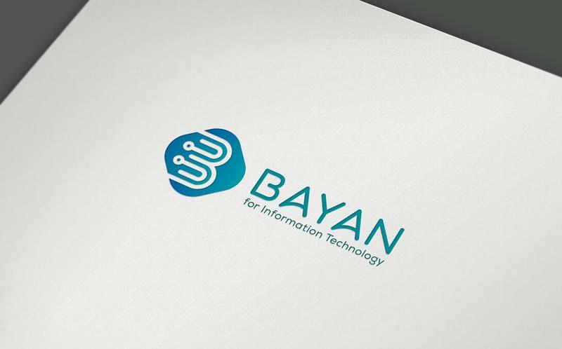 تصاميم هوية شركة بيان لتقنية المعلومات - شركه بي ديفرنت تصميم شعار